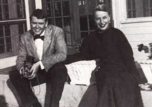Newlyweds Dick and Patsy Scarry